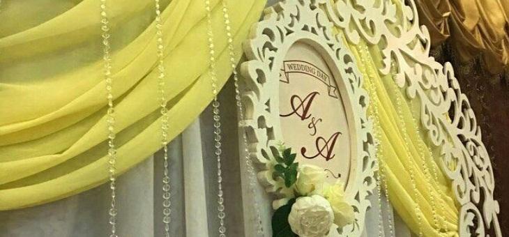 Украшения свадьбы в ресторане Гламур